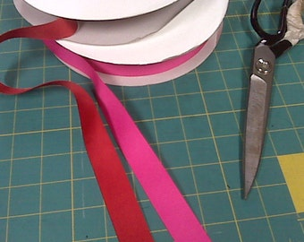 Shocking Pink Grosgrain Ribbon Pink and/or Red 10 yrds