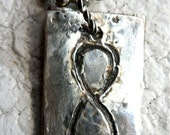 Rustic Custom Silver Infinity Tags (2 Tags)