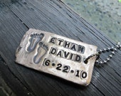 Rustic Custom Bronze Kids Footprint Tag