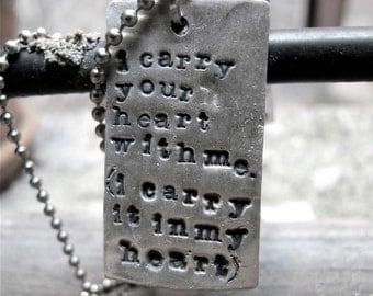 i carry you heart Tags (2 Tags)