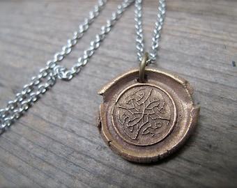 Celtic Beauty Wax Seal Pendant