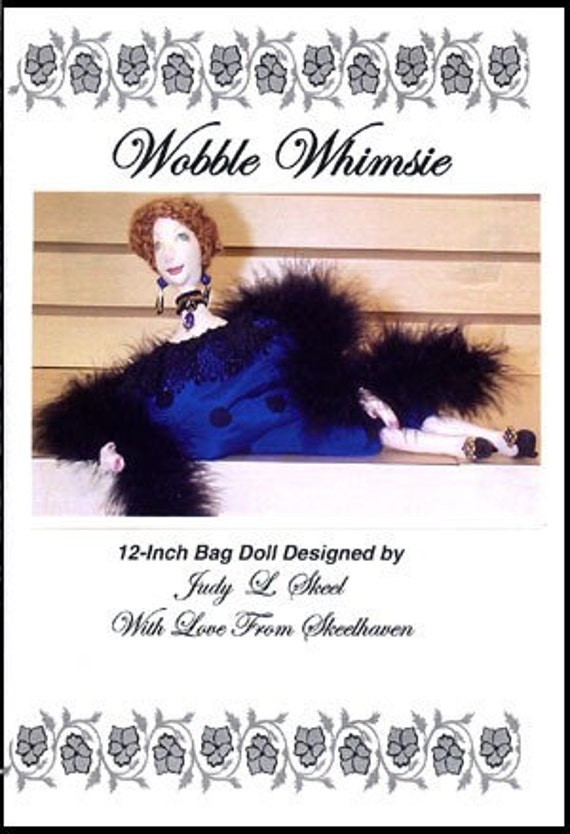 Wobble Whimsie cloth doll pattern by Judy L Skeel