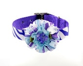 Couture Dog Collar, Whimsy Collection (Blue) Pet Collar