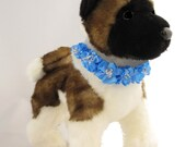 Couture Dog Collar, Bridal/Formal/Party Collection (Copenhagen Blue)