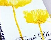 Yellow Poppy Thank You Set