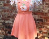 RESERVED for holeinparadise 1970s School Girl Pinafore Dress