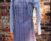 Vintage Gray Plaid Mini Dress