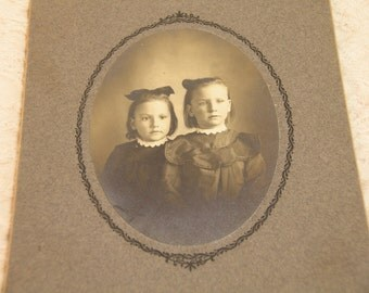 Two Sisters 1904 Photograph