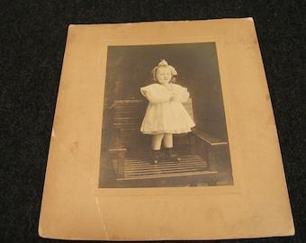 Vintage Photograph Little Girl