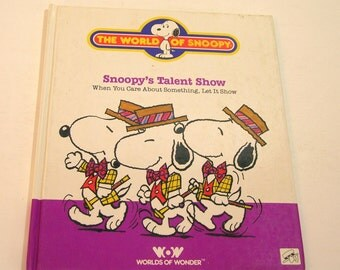 Vintage Book  Snoopy's Talent Show