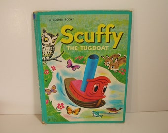 Scuffy The Tugboat Vintage Golden Book