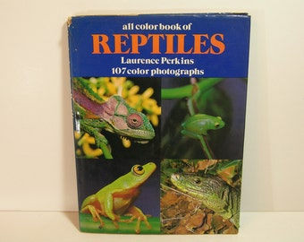 """Vintage All Color Book Of  """"Reptiles"""" by Laurence Perkins"""