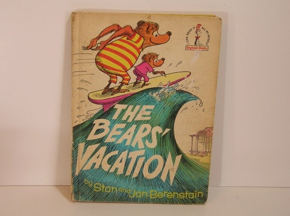 Berenstain Bears Old Book Cover : Vintage book the bears vacation berenstain by