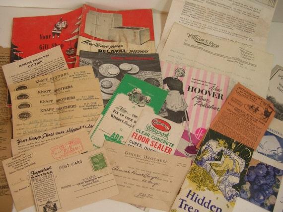 Miscellaneous Household Paper Ephemera