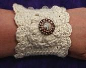 Romantic Crochet Wrist Cuff PDF Pattern