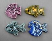 FOUR FISHES CERAMIC PENDANTS SALE SALE SALE