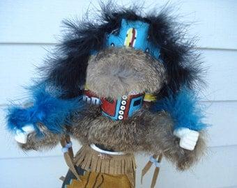 SALE Vintage Hemis Kachina Native American Katsina Artist Signed