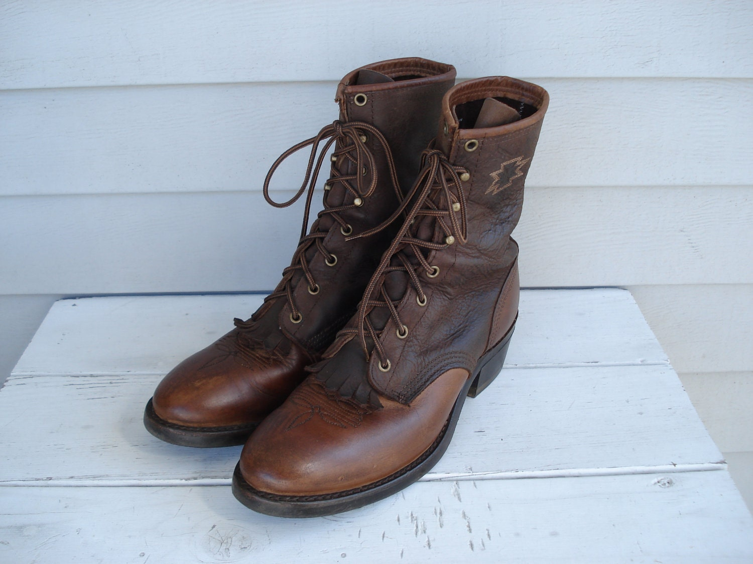 brown lace up leather boots | Gommap Blog