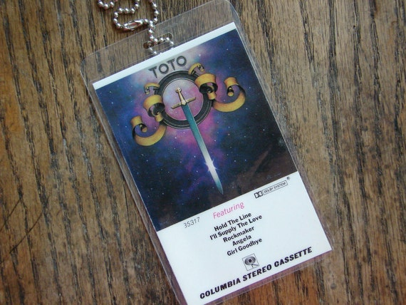 Toto Cassette Keychain/Luggage Tag