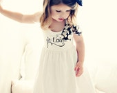 Je T'aime DRESS with removable Chiffon Bow for Girls -- sizes 2 - 6 - K