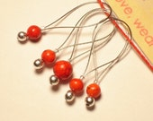 Carnelian Stitch Markers- Loop