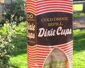 Dixie Cups, 100 unopened in Original Box, 1969, colorful 5 oz