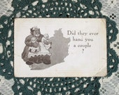 SALE 1913 Postcard, Mammy with twin babies, Negro humor