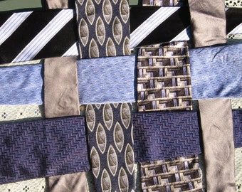 7 Blue and Silver Ties lot, Armani, silk and metallics