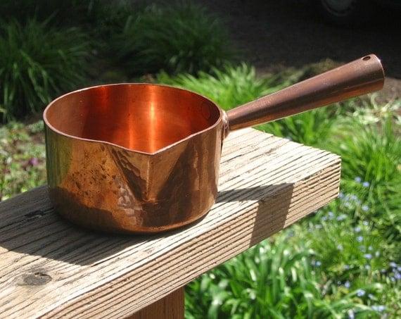 Matfer Solid Copper Sugar Pan Vintage France Melting Pot