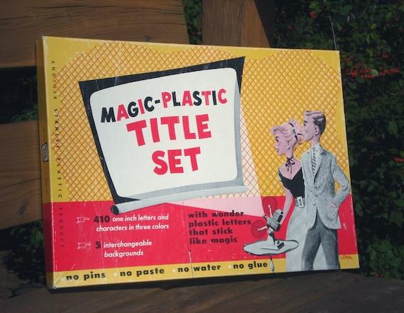 Magic Plastic Title Set, Vinyl colorforms lettering kit for signs, spelling
