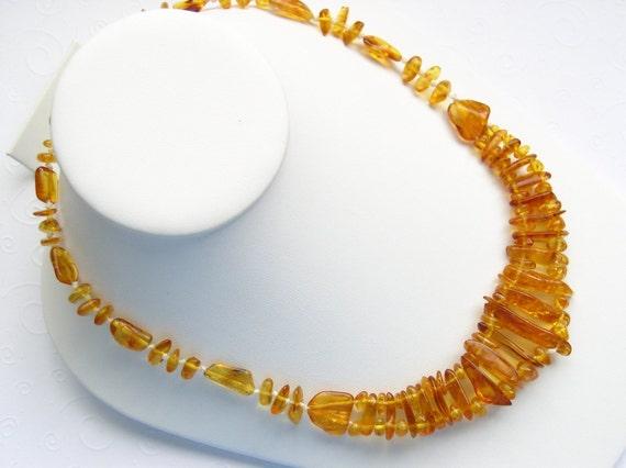 Genuine Golden Honey Baltic Amber NATURALLY CHARMING Bib Necklace