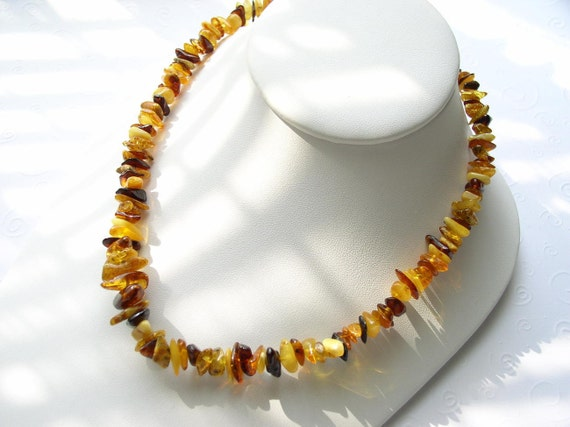 Genuine Natural Multicolor Baltic Amber Beads Casual Necklace