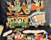 Vintage Wall Decoration Walt Disney Train Childrens Bedroom  Nursery Toys of Christmas Past