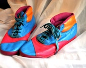 Vintage Avia Multcolor 1980s Sneakers Breakdance Aerobic Style size 6.5