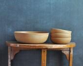 Vintage Ellingers Agatized Wood Bowl Set Salad for 4