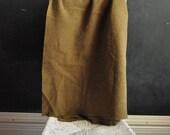 Vintage Wool Army Blanket in Army Green Camp Blanket