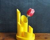 Vintage Acrylic Yellow Modern Midcentury Desk Accessory
