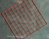 Vintage 80s Red Painted Metal Grid for Display or Decoration Sale