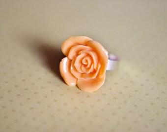 Orange dream rose ring