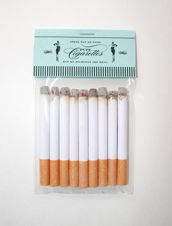 Tiffany's Theme Puff Cigarettes by JacksMaster on Etsy