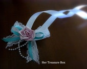 Wrist Corsage / Simply. Love. (with a hint of Mint Green)