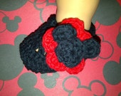 Mickey Mouse Mary Jane Baby Slippers