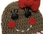 Gingerbread Baby Crochet Hat