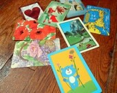 Vintage Playing Card Singles - Set of 8 - D