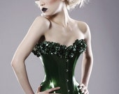 LATEX FLORAL CORSET - made to order