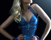 Latex Underbust Corset with Frills and bows- made to order