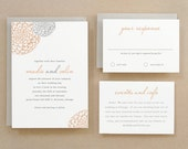 Printable Wedding Invitation Template   INSTANT DOWNLOAD   Blooms   Word or Pages   Easy DIY   Editable Artwork Colors