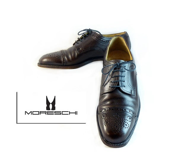 RESERVED for J.K.   Mens Oxford  Italian Design //  Luxury Shoe Moreschi // Leather  Espresso Brown  M Size 8 1/2  or W10 1/2  Trend