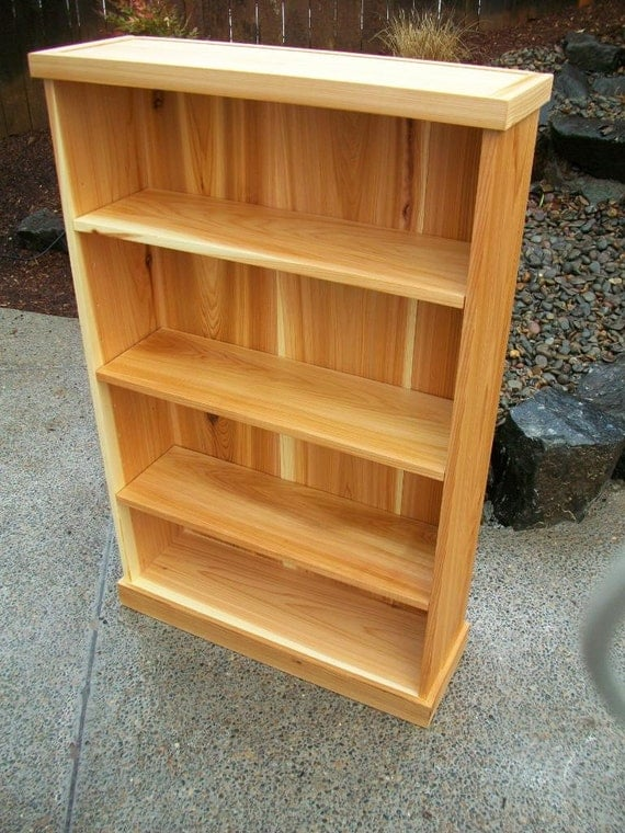 Solid Cedar Bookcase Bookshelf With Adjustable Shelves 4 Ft