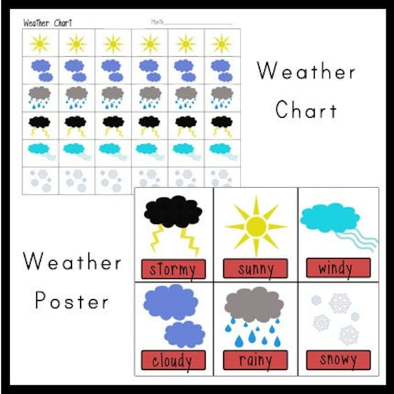 Alfa img - Showing > Printable Weather Chart for Kindergarten